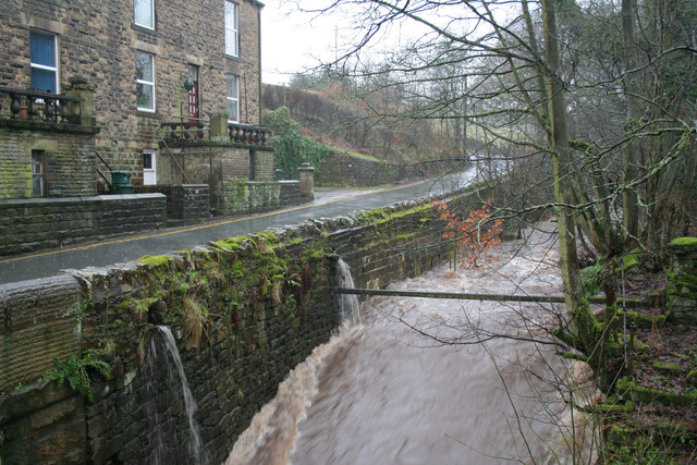 North Beck in spate, Goose Eye