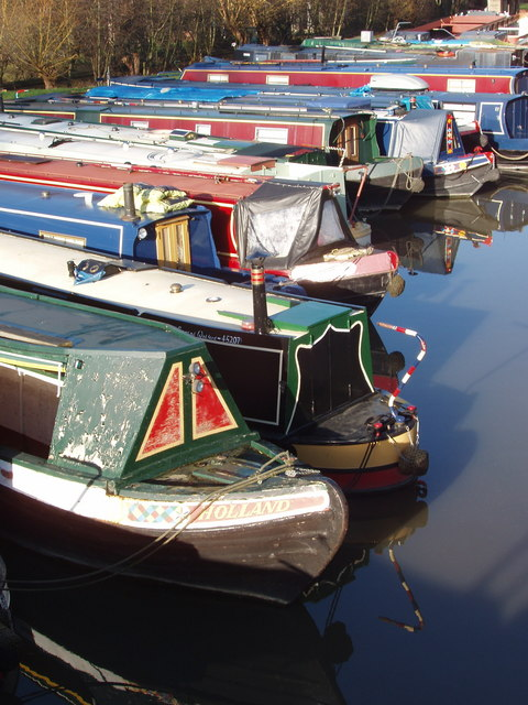 Marina at confluence of River Colne and Grand Union Canal