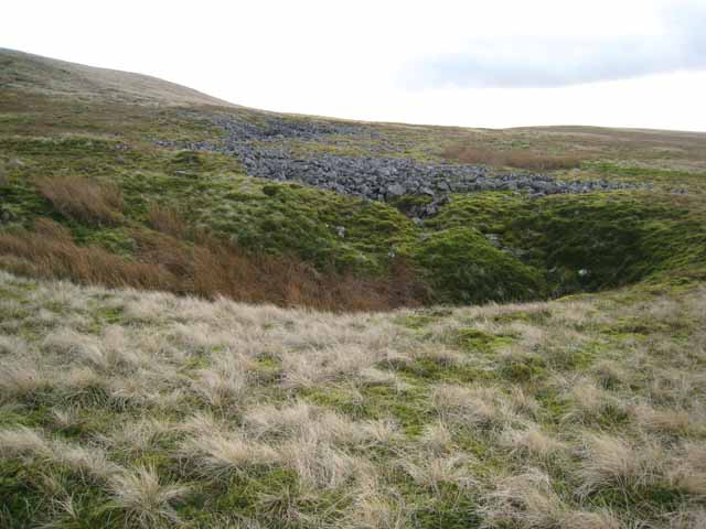 Old mine workings on the slopes of Cross Fell