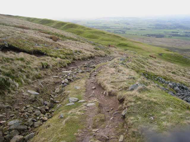 The track down Cross Fell