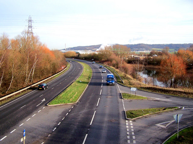 Snodland bypass, looking north