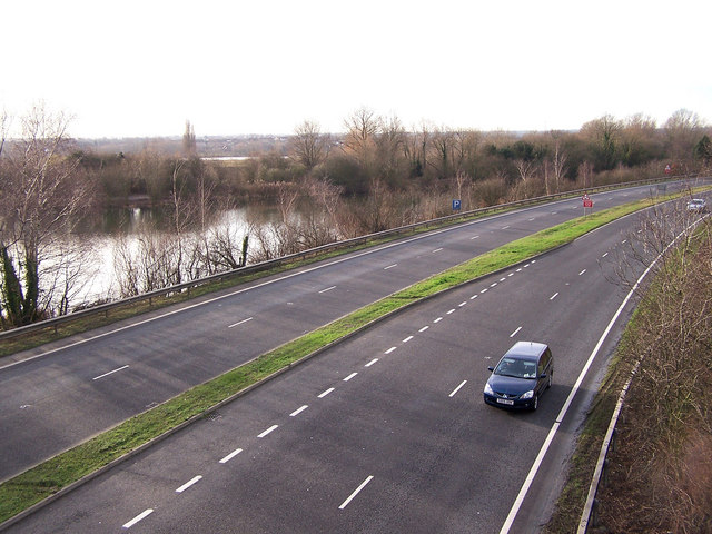 Snodland bypass looking south west