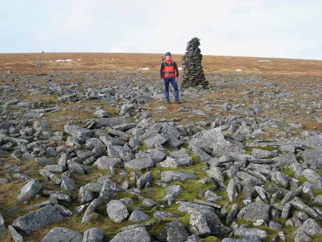 Cairn near the summit of Cross Fell