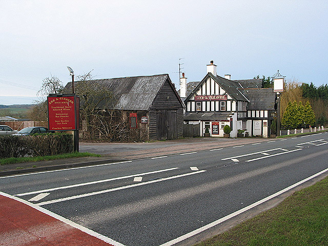 Axe & Cleaver public house on the A49