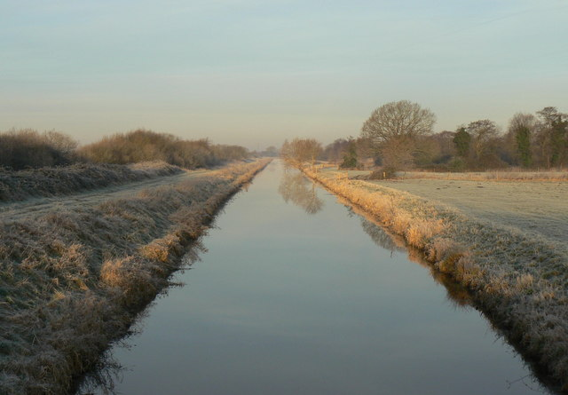 South Drain in Shapwick Heath National Nature Reserve