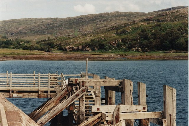 Pier and head of Loch Toscaig
