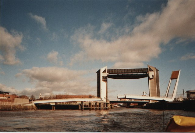 Tidal Barrier and two bridges from the water