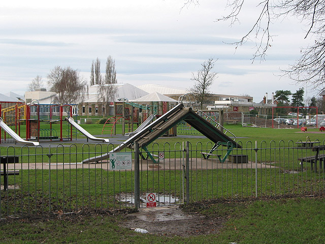 Children's playground and leisure pool complex