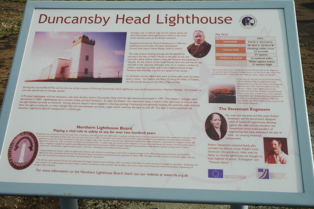 Duncansby Head Lighthouse Info Sign