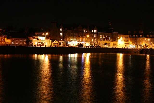 Campbeltown Seafront After Dark