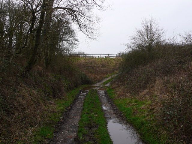 Dismantled railway and bridge, Bagber, Sturminster Newton