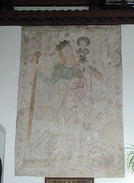 St Edmund's church - wallpainting depicting St Christopher