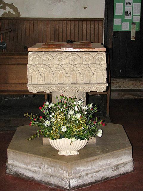 St Edmund's church - baptismal font