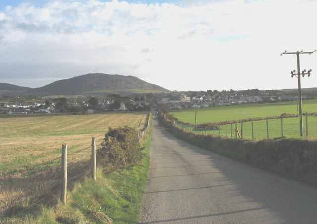 View along the old Porthdinllaen turnpike road in the direction of Morfa Nefyn