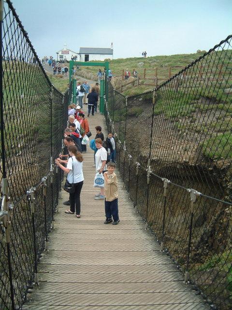 Steady... wire footbridge