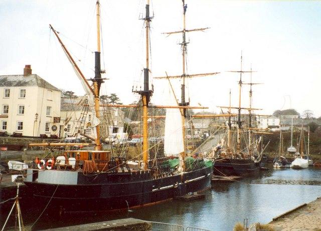 Tall ships, Charlestown, St Austell