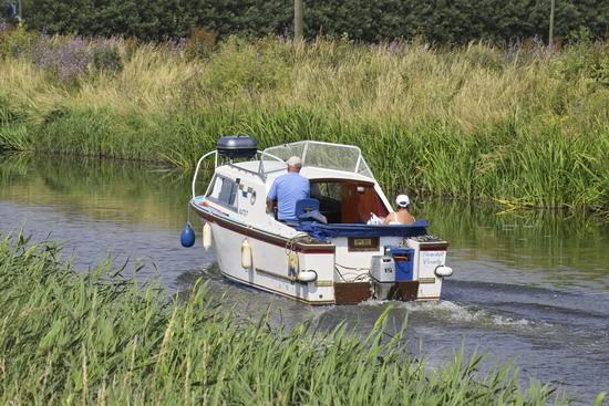 Motor Cruiser on the River Nene (old course)