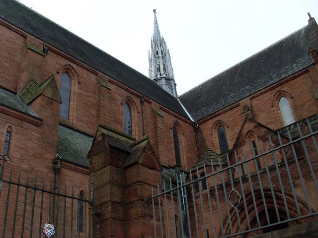 Detail of spire on Barony Hall