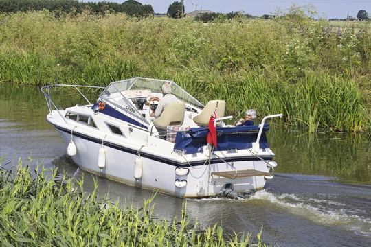 Motor Cruiser on the River Nene (old course)