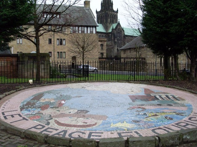 Peace mural in Cathedral Square