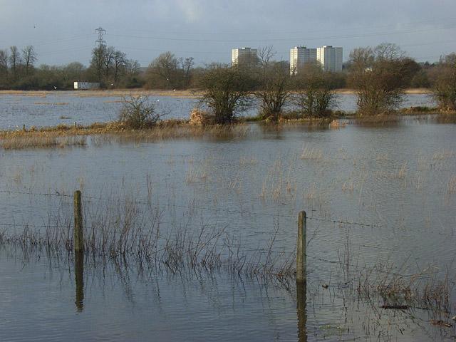 The Kennet floodplain, Reading