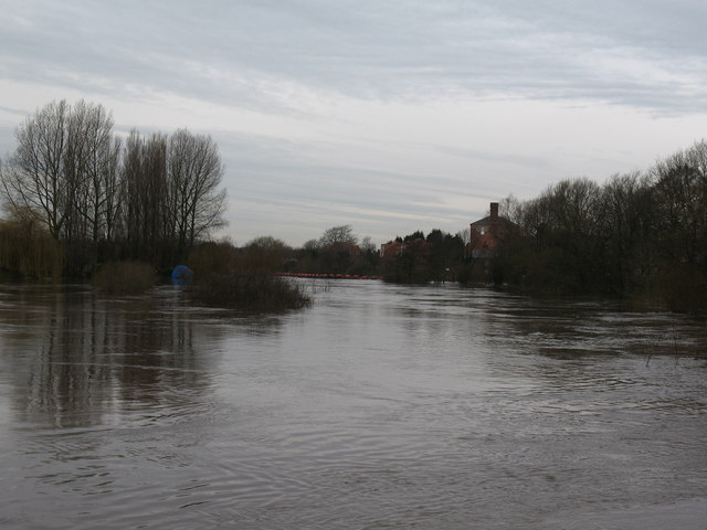 The swollen River Ure