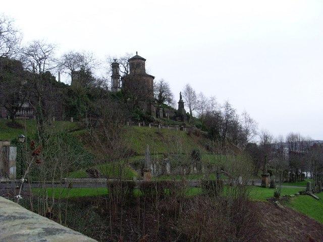 Necropolis from bridge