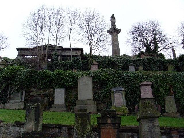 Gravestones in the Glasgow Necropolis