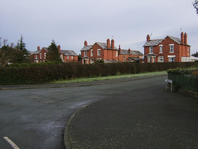 Houses on the junction of Heath Lane and Hatchmere Drive