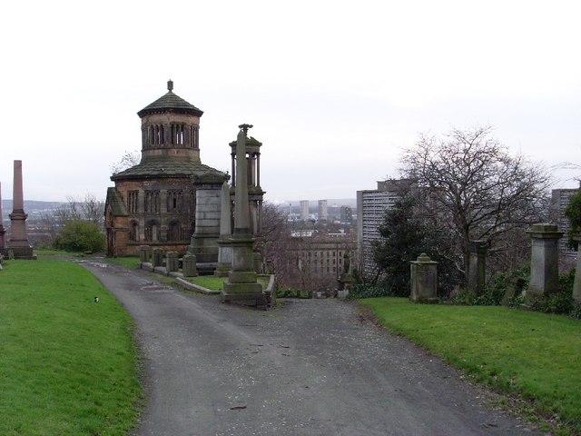Inside the Glasgow Necropolis