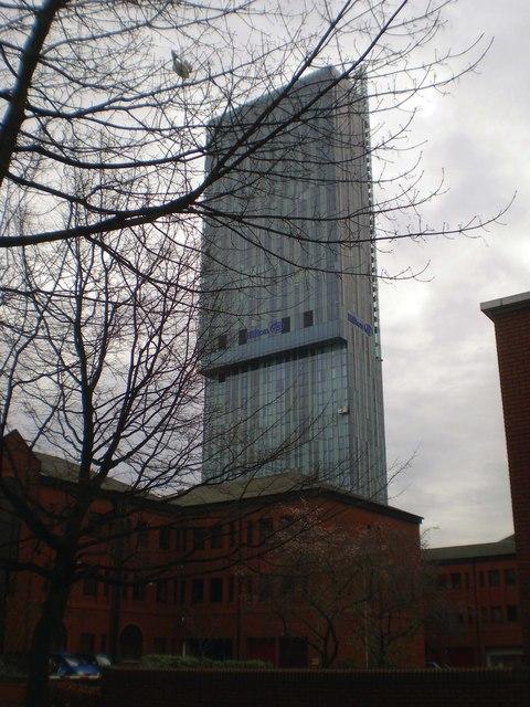 Looking at Beetham tower