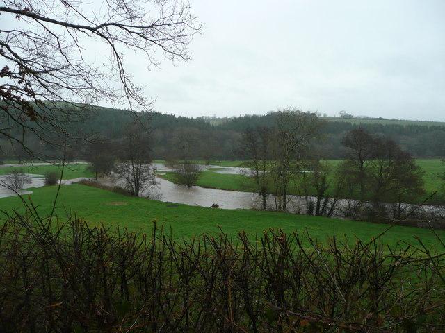 River Taw meanders in flood; 2