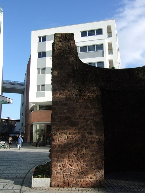 City wall bastion, Princesshay, Exeter