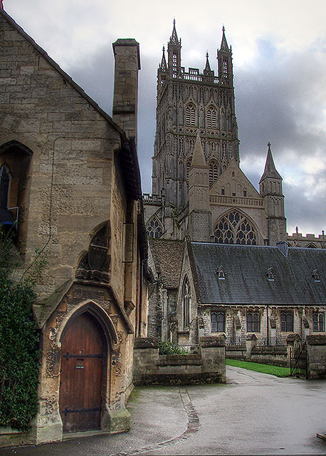 Gloucester Cathedral in winter