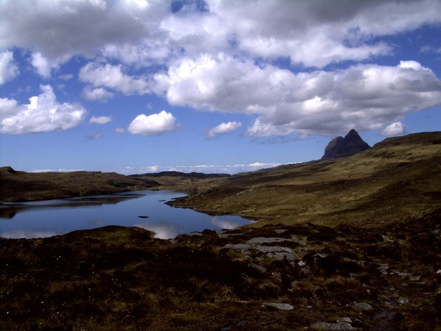 From Creag a' Chaise towards Suilven