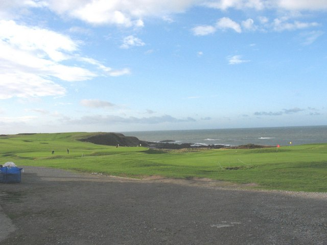 Cliff top golfing greens