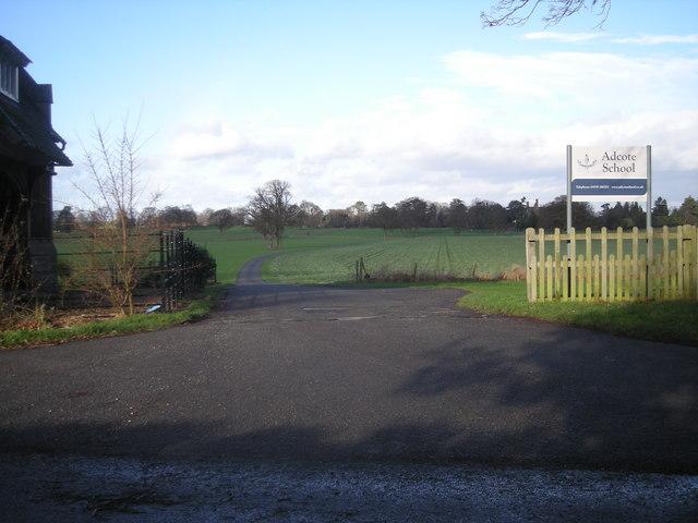 Driveway to Adcote School