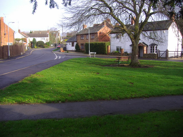 The Village Green in the Hamlet of Drayton, Daventry,Northamptonshire