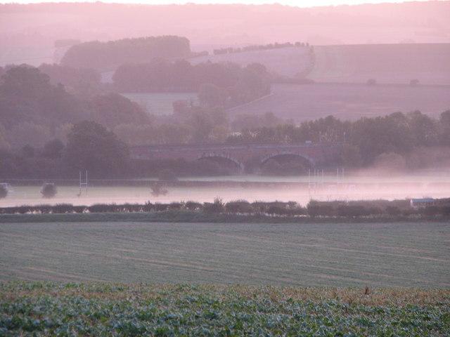View of Moulsford railway bridge