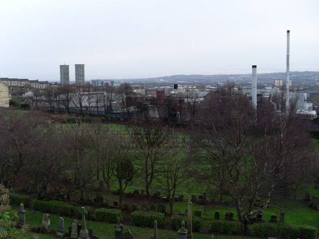 Glasgow's East End from the Necropolis