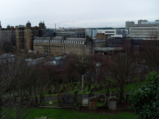Royal Infirmary from Necropolis