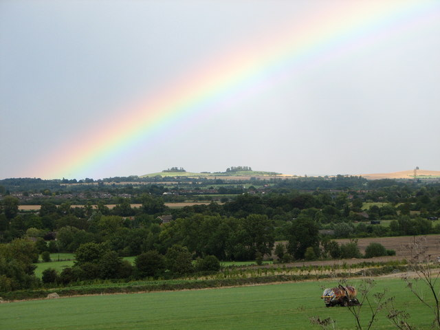 Rainbow over the Clumps