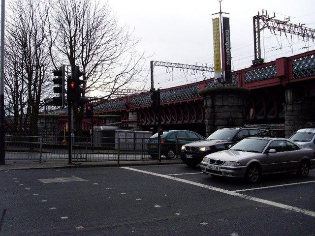 Railway bridge over the Clyde