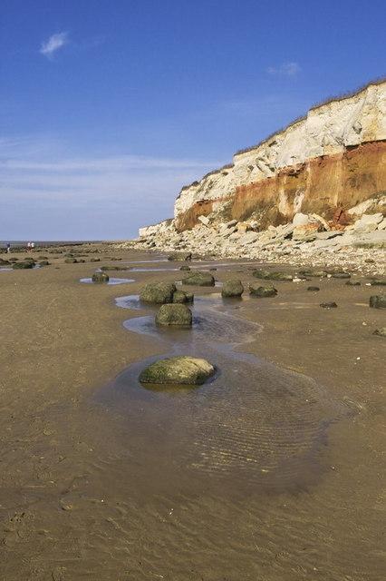Hunstanton Beach and Cliffs