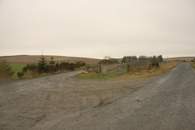 Farm track junction