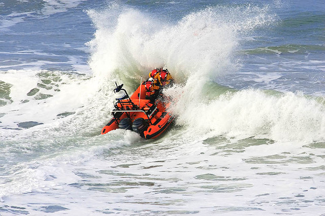 Newquay Lifeboat - Whipsiderry Beach - Cornwall