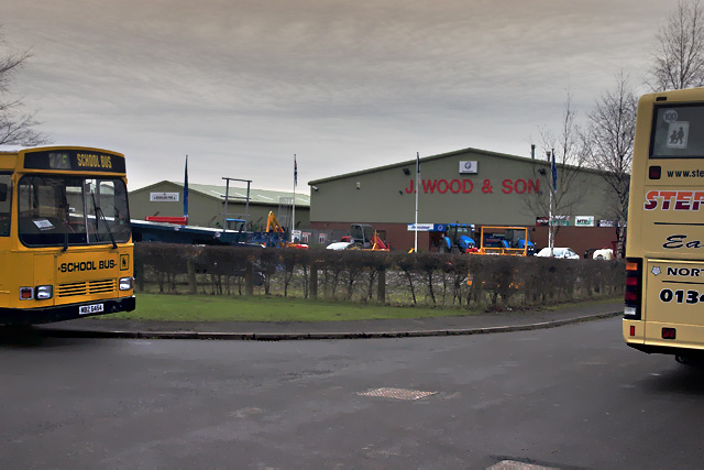 The industrial estate at Kirkby Mills
