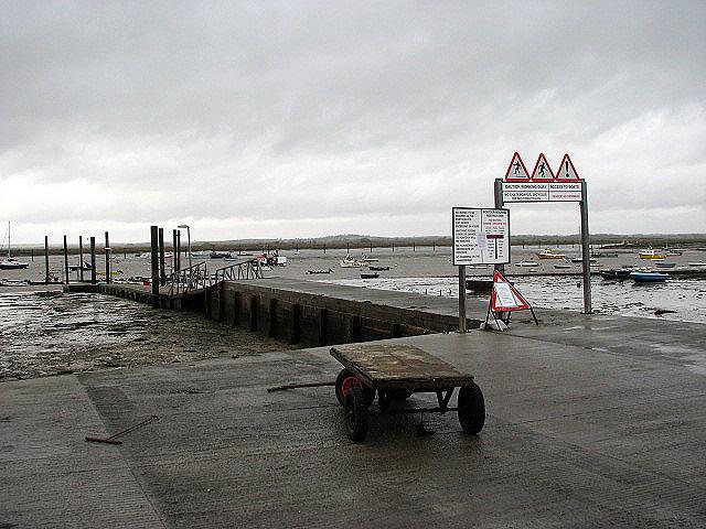 View across Mersea Fleet
