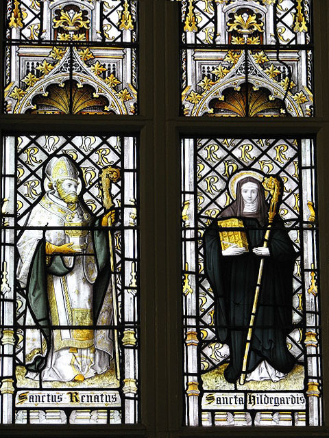 The convent chapel at Old Hall - stained glass window