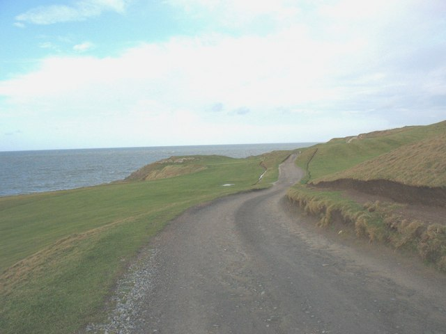 Untarred section of the Porthdinllaen road
